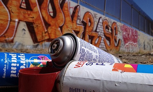 Recycle Everything - old paint containers