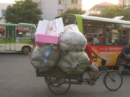 9 recycling tips at home - recycling by bike