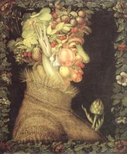 organic vegetable gardening tips for beginners - Arcimboldo verano 1563
