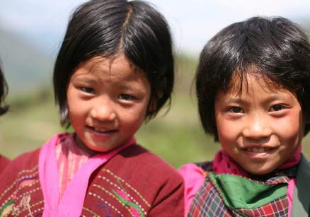 Bhutan Tourism - Young Girls of Bhutan