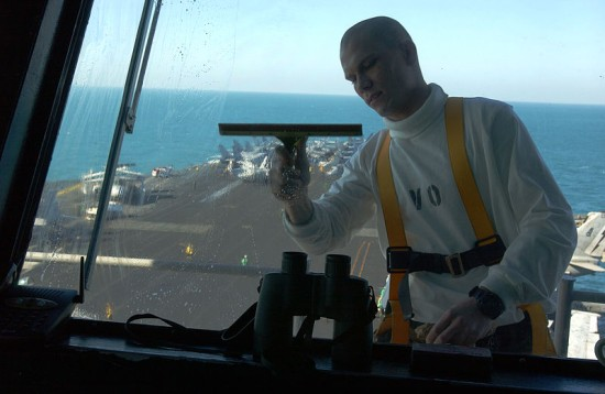 Environmentally friendly cleaning products - US Navy Aviation window cleaning