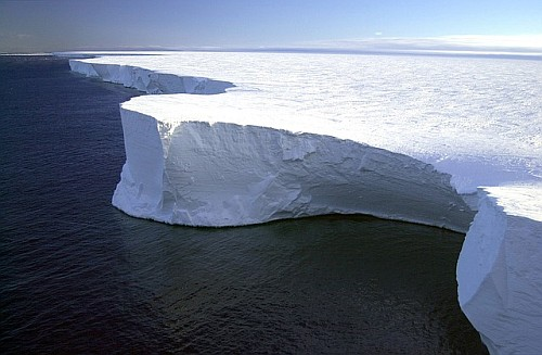 Global warming and rising sea levels - Antarctica