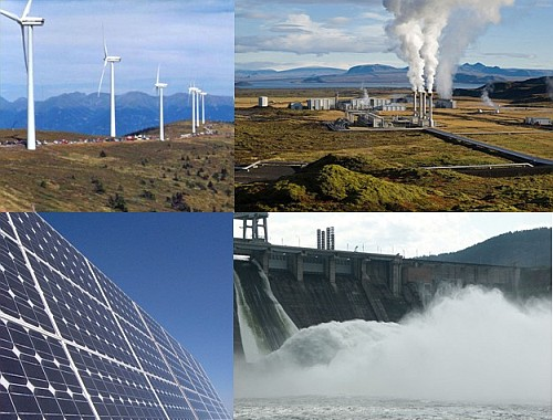 Pros and Cons of Renewable Energy - Collage of different types image