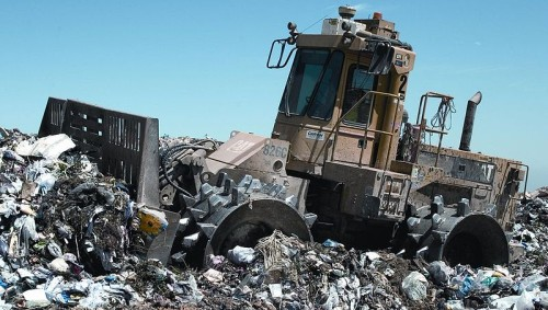 Recyclable materials list - Landfill compactor