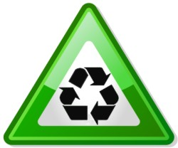 Recycling tips and ideas - recycle triangle