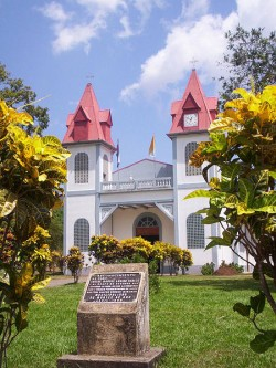 best eco holidays - costa rican church