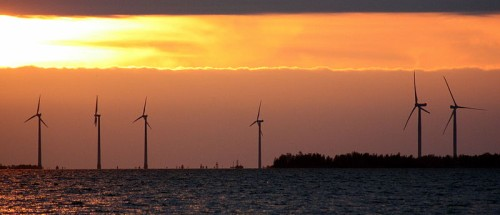 the london array wind farm - wind turbines